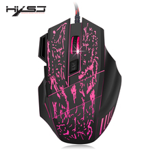 HXSJ A874 3200DPI 7 Buttons LED USB Wired Gaming Mouse Compatible with Computer and Laptop