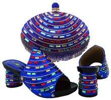 Blau Schuhe und Tasche Zu Passen Italienische African Schuh und Tasche Set für Party In Frauen Italienische Passenden Schuh und Tasche Set Hochzeit HJT1-6