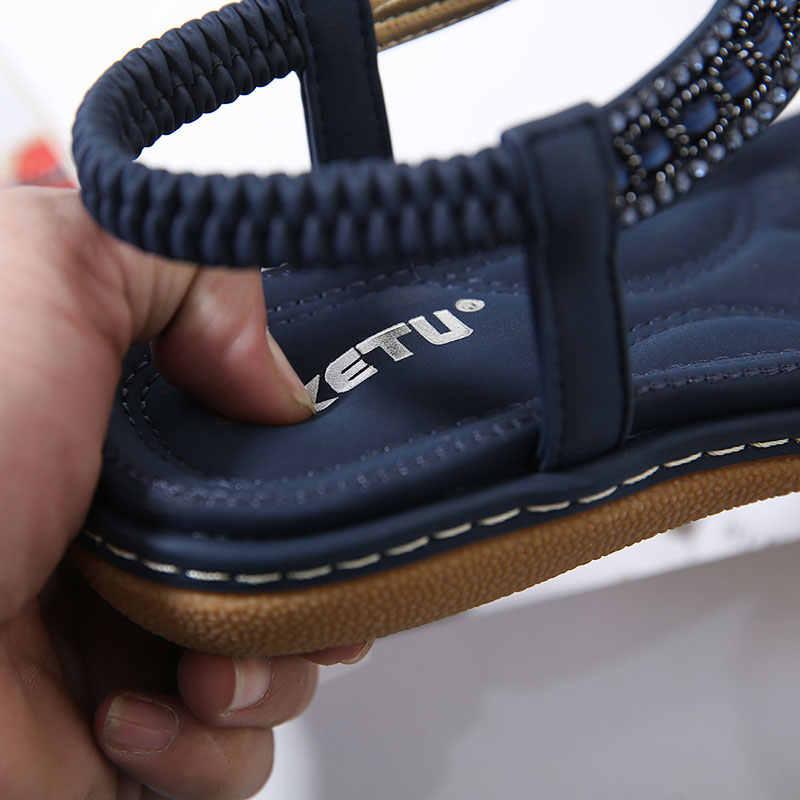 أحذية صناديل للنساء 2020 جديد سلسلة حبة الوجه بالتخبط المعادن الديكور إسفين صنادل شاطئ أحذية النساء أحذية صيفية sapato feminino