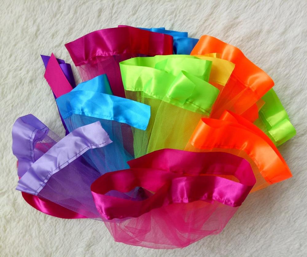 2017 new style rainbow colorfull fluffy girl pettiskirt tutu dance mini skirt baby skirt for 1-9Y hot sale su
