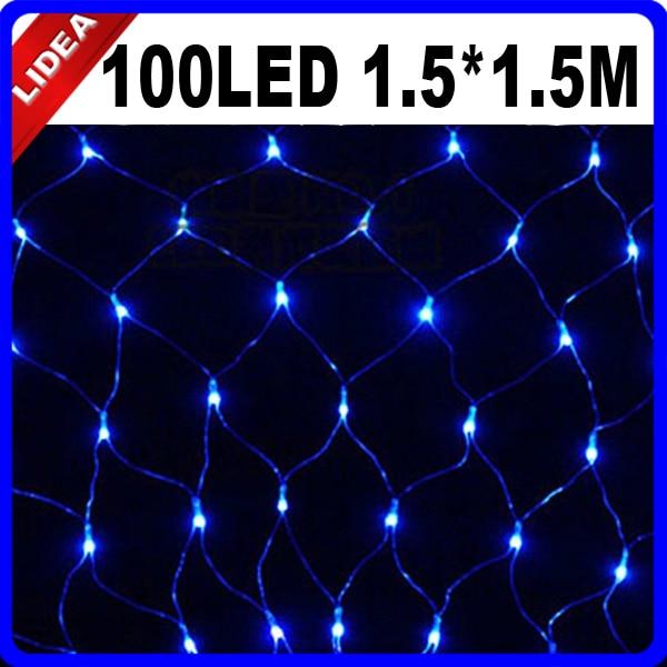 1.5 * 1.5M 100 LED Party Γάμος Κήπος Νέο Έτος Net - Φωτισμός διακοπών - Φωτογραφία 2