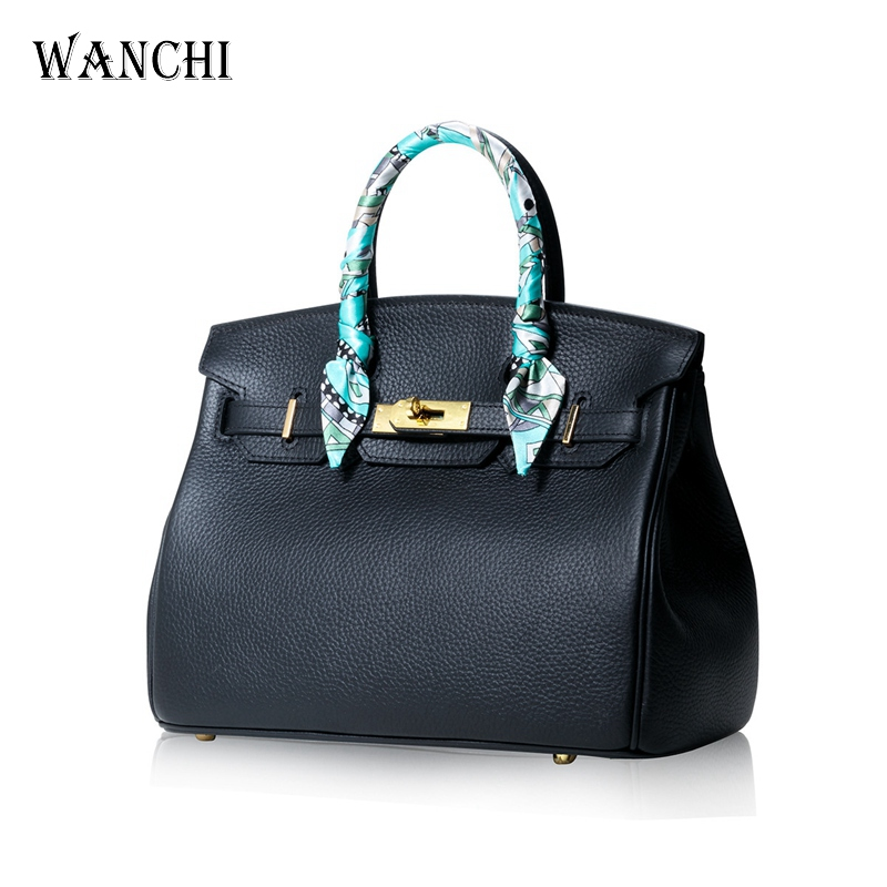 Luxury Handbags Women Bags Designer Handbags High Quality Genuine Cow Leather Purses Classic Lock Paid Ladies Famous Brand WANCH