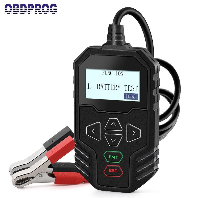 OBDPROG MT300 12 v & 24 v Voiture Camion Batterie Testeur 12 v 24 v Voiture Camion Batterie Analyseur 100  2000 CCA Automobile Outil Russe dans Batterie Testeurs de Automobiles et Motos