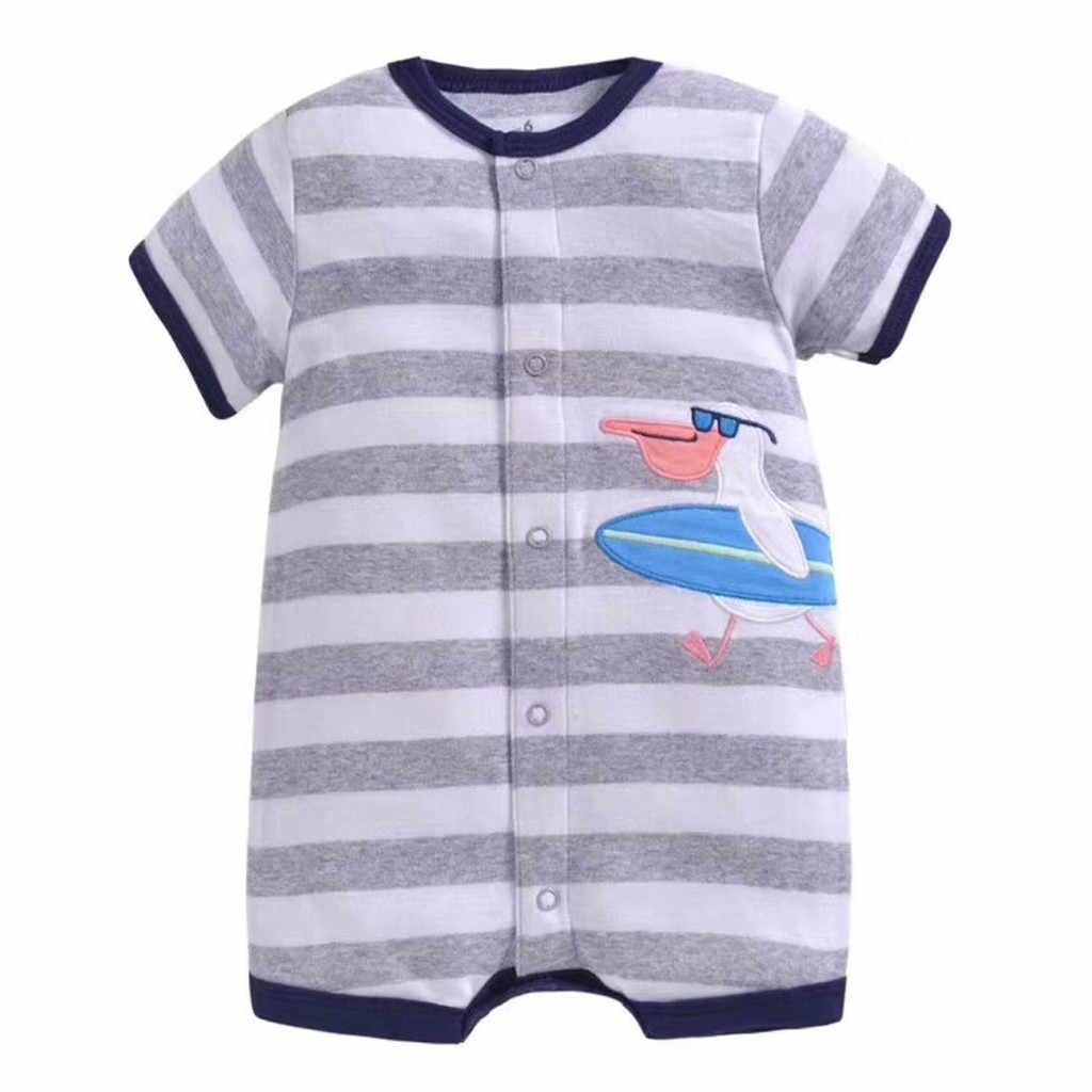 Nouveau-né bébé fille vêtements 2019 été dessin animé imprimer enfant en bas âge barboteuse combinaison carters bébé garçon vêtements mamelucos bebe verano