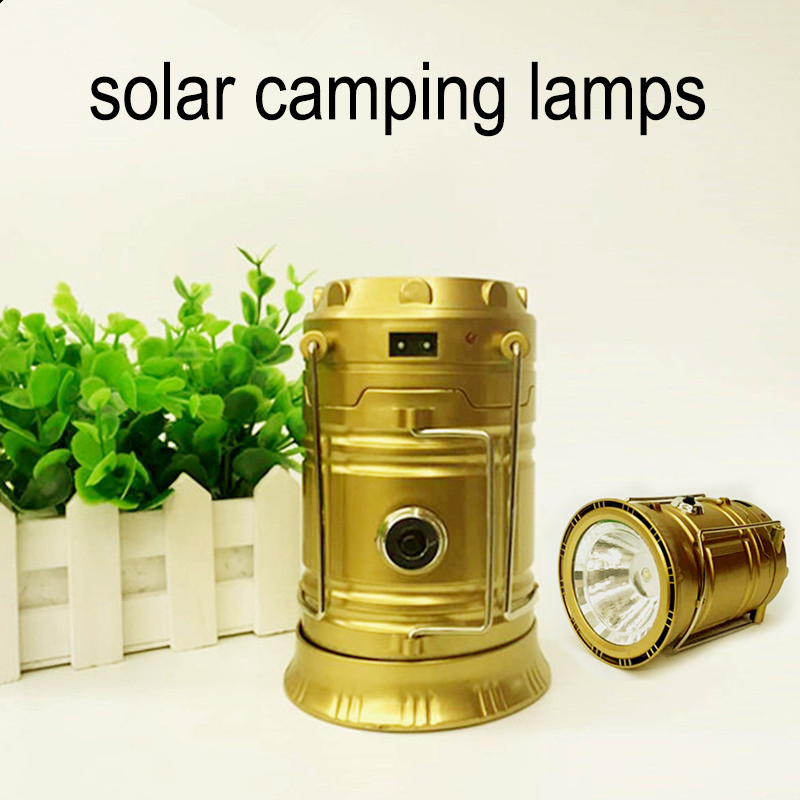 Camping light lantern torch compact silicone solar /& USB charging