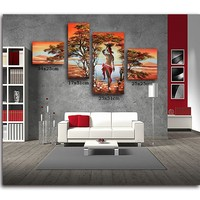 DIY Diamond Painting 5D Diamond Painting Cross Stitch Needlework Crafts Decorative Triptych Southeast Asian Beauty Painting