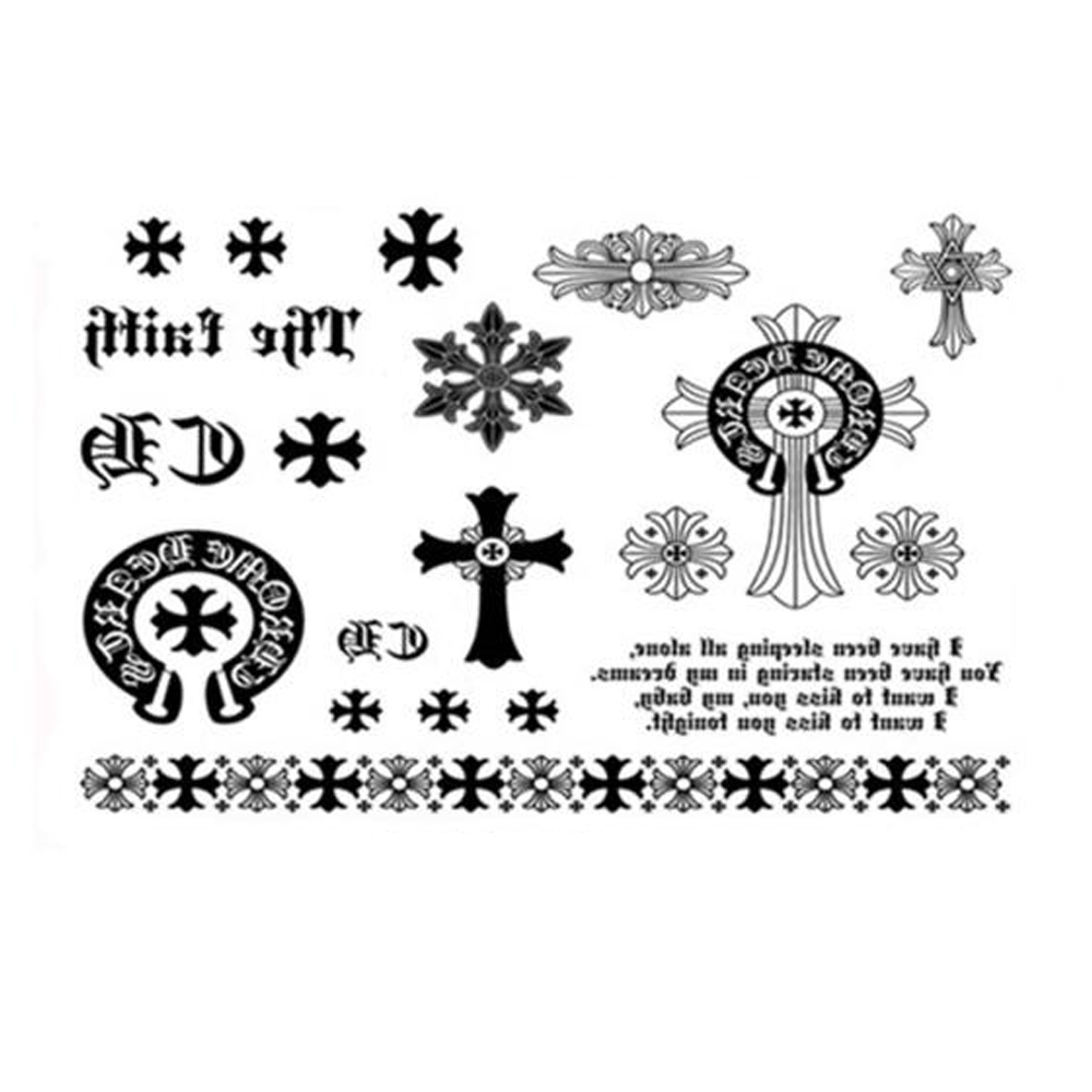 Yeeech Temporary Tattoos Sticker for Women Fake Big Dragon Cross Snowflake Bracelet Designs Sexy Arm Leg Body Art Waterprpoof