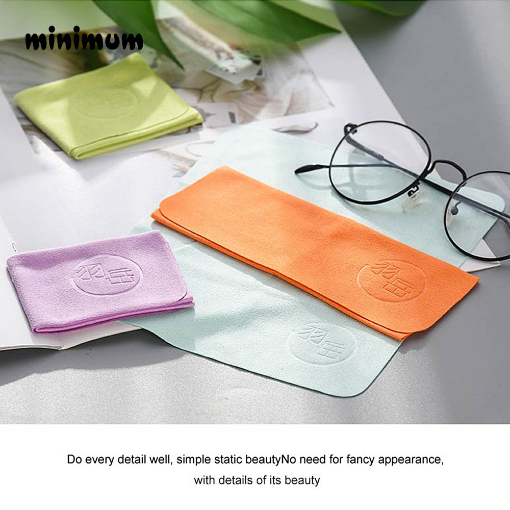 5 pcs/lots Customized Chamois Glasses Cleaner  Microfiber Glasses Cleaning Cloth For Lens Phone Screen Cleaning Wipes Eyewear 3
