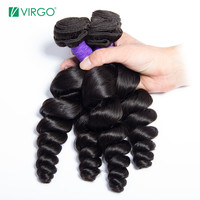 Virgo Hair Brazilian Loose Wave Hair 100% Human Hair Weave Bundles Remy Hair 1 / 3 / 4 PCS Natural Color Can be Dyed/Bleached