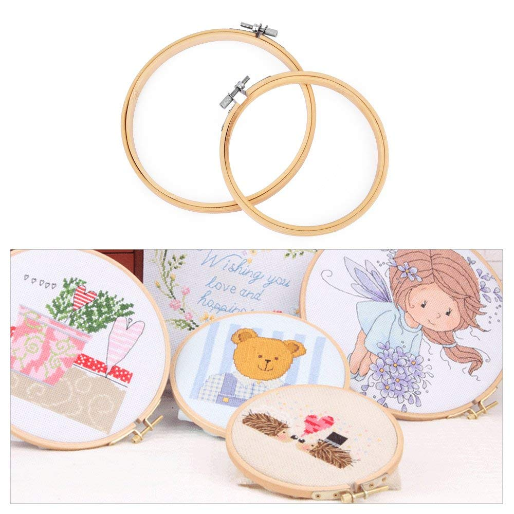 "6/"" Wooden Embroidery Hoop Ideal For Cross Stitch And Tapestry Great Quality!!"