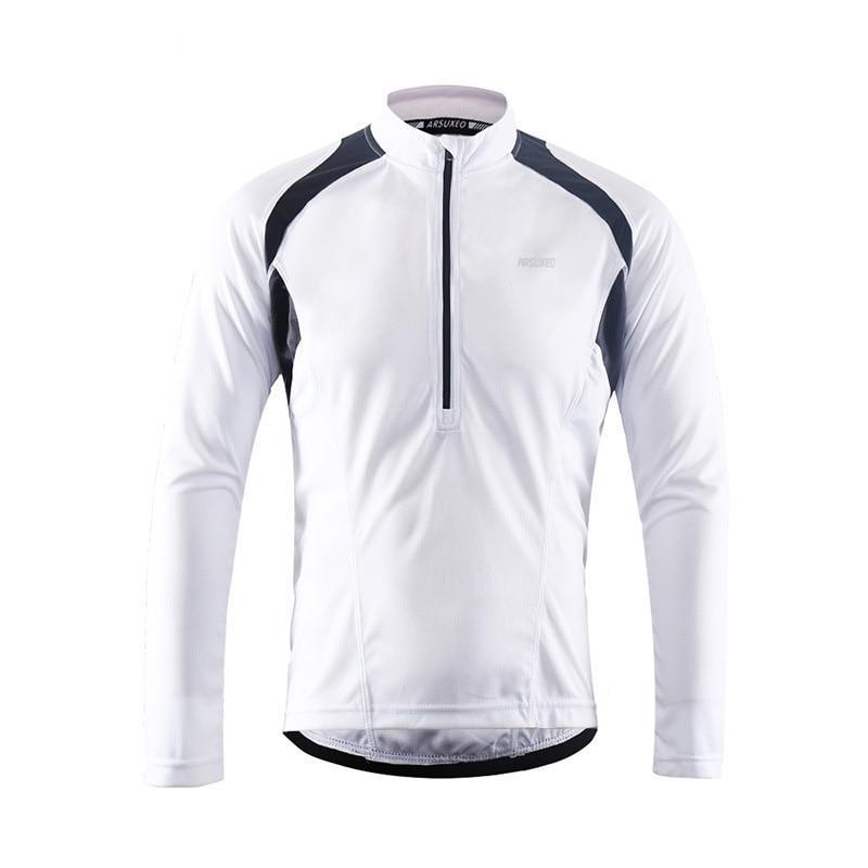 Mens Cycling Jersey Long Sleeve Pants Suit Bike Bicycle MTB Half Zipper Black