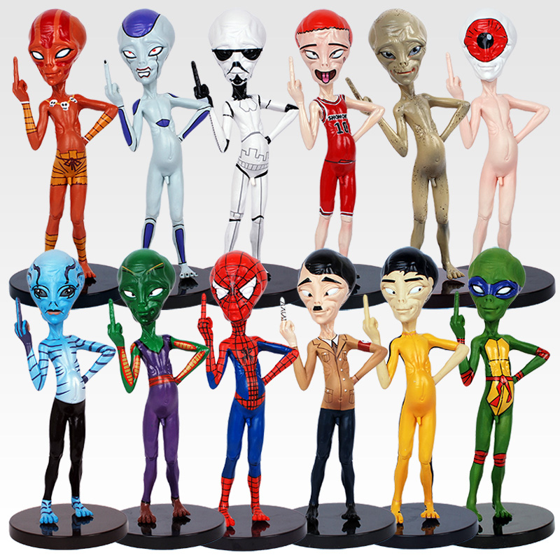 Toys & Hobbies Alien Paul Cosplay Spider-man Action Figure 1/8 Scale Painted Figure Bad Alien Cos Piccolo Frieza Pvc Figure Toys Brinquedos Professional Design