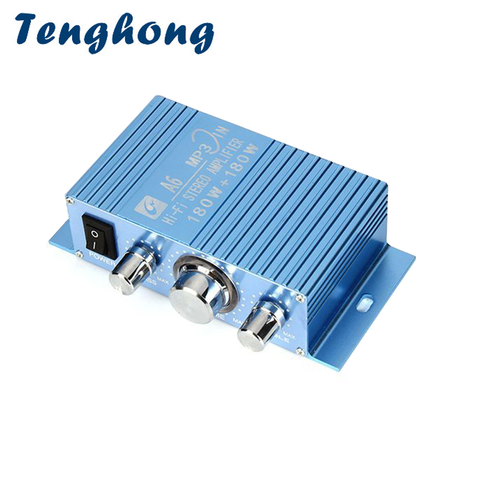 Tenghong 40W*2 <font><b>Audio</b></font> <font><b>Amplifier</b></font> TDA7056 2.0 Channel HIFI Stereo Finished Power <font><b>Amplifier</b></font> DC12V For Auto <font><b>Car</b></font> Computer Speaker <font><b>DIY</b></font> image