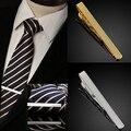 Bluelans homens da moda de metal ouro prata simples laço da gravata bar fecho clipe grampo pin