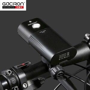 Image 4 - Gaciron 자전거 헤드 라이트 리어 라이트 스위트 팩 USB 충전 내부 배터리 LED 프론트 테일 램프 사이클링 조명 시각 경고