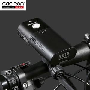 Image 4 - Gaciron自転車ヘッドライト、リアライトスイートパックusb充電内部バッテリーledフロントテールランプサイクリング照明視覚警告