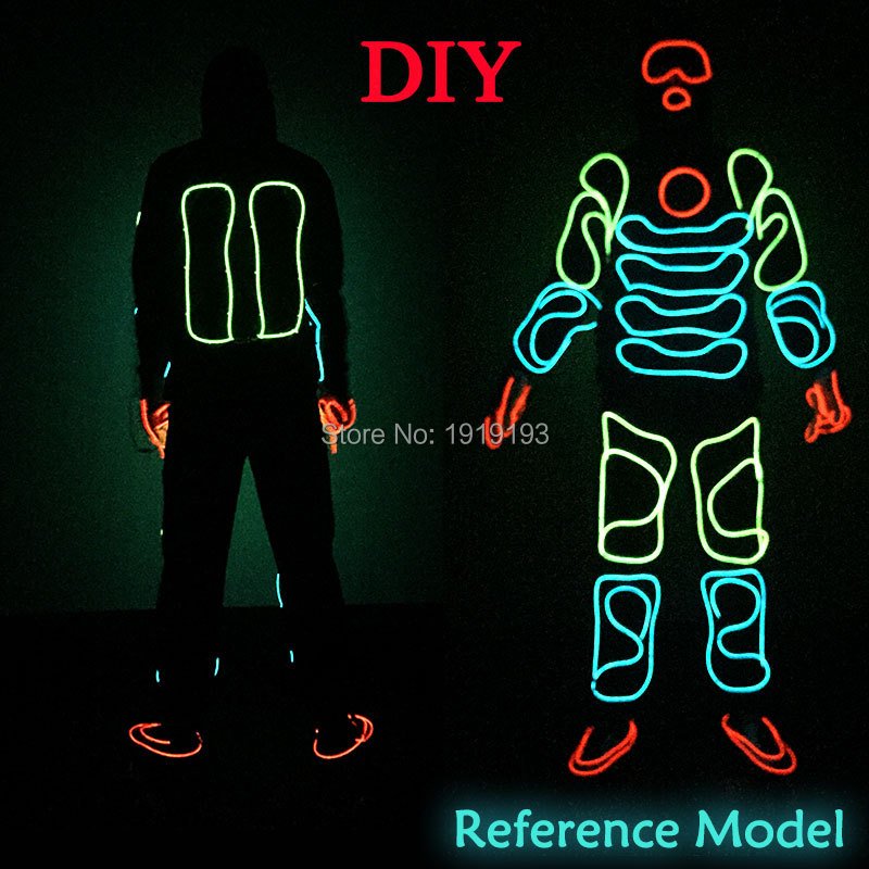 Hot Sales Neon Light Dance Party Decor EL Wire Colorful Costume Wedding Festival Gala Show Supplies Led Rope Monkey King Design monkey foil balloon auto seal reuse party wedding decor inflatable gift for children