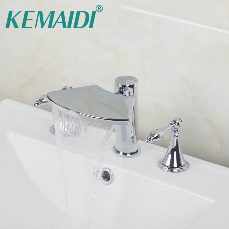 KEMAIDI Novel Design 5pcs Bathroom Tub Basin Sink Faucet with Hand ...