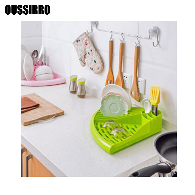 1 pcs dish rack kitchen useful space organizer plastic dish plate holder 2017 fashion cup - Dish rack for small space collection ...