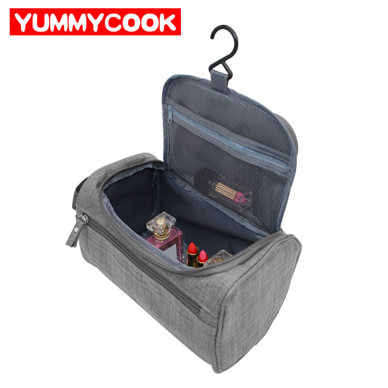 Men's Travel Cosmetic Storage Bag Hanging Wash Makeup Case Toiletry Zip Pouch Luggage Organizer Accessories Supplies Products