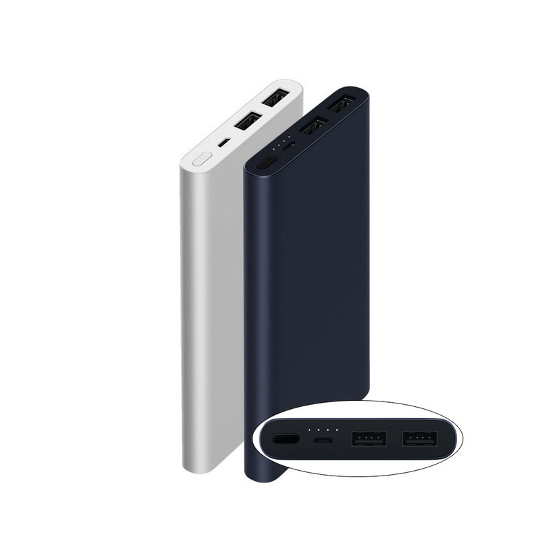 10000mAh Xiaomi Power Bank 2 Quick Charge External Battery Support 5V/9V/12V Max 15W for Android and iOS Mobile Phones