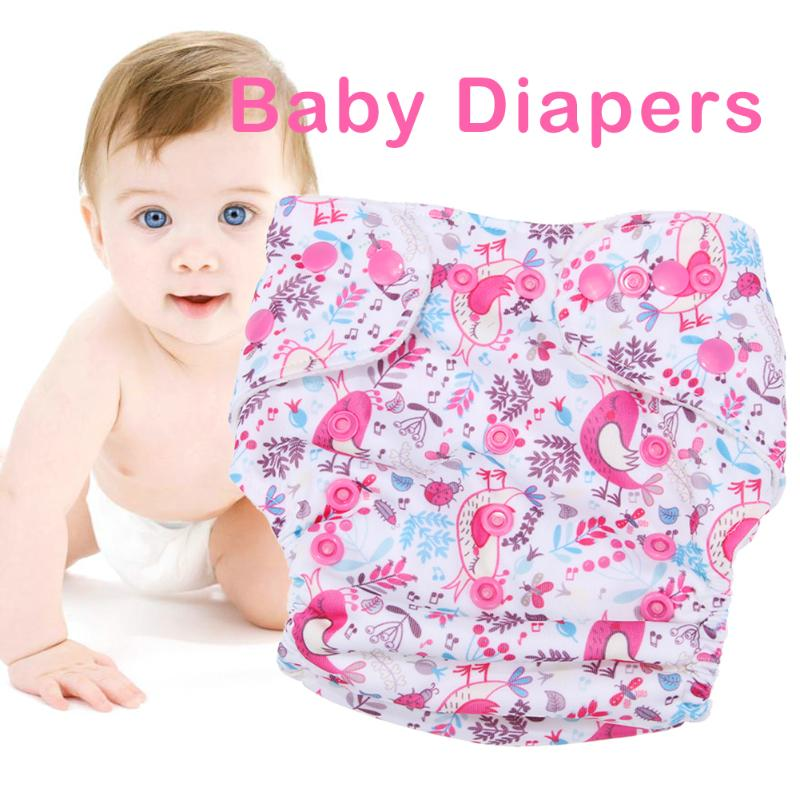 Baby Washable Reusable Real Cloth Pocket Nappy Diaper Cover Wrap for Birth to Potty One Size Nappy Diaper Cover Wrap Inserts