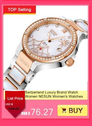 98f502e44c94 ... Suiza reloj de la marca de lujo de las mujeres del cuarzo de Japón  NESUN