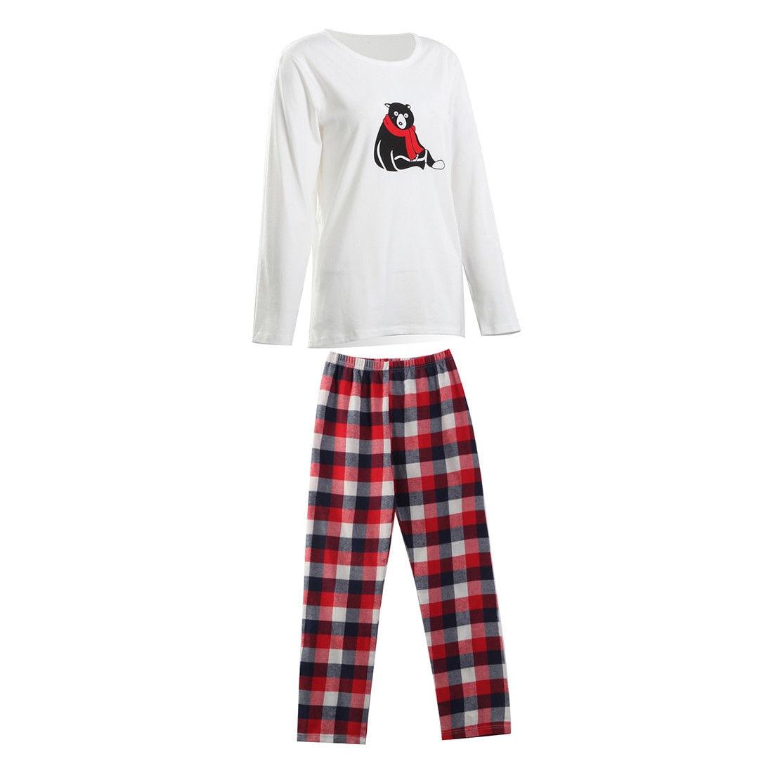2017 Brand New Christmas Santa Claus Family Matching Pajamas Set Sleepwear Nightwear Pyjamas