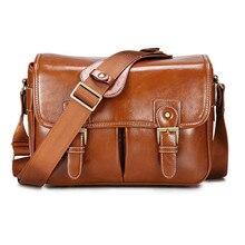 Фото роскошный фотоаппарат стильный модный ретро PU кожаный чехол сумка водостойкая сумка через плечо DSLR сумка для Canon Nikon sony L