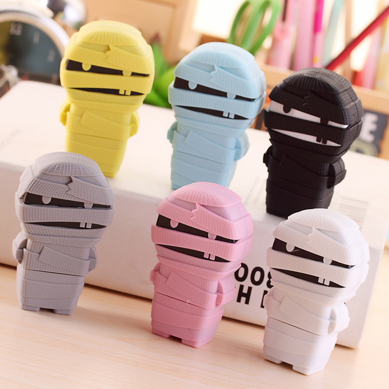 Cute Mummy Correction Tape Creative Cartoon 5mmx6m Correction Strap Kawaii Stationery Office School Supplies