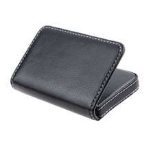 Business Card Case Box Holder Protector Vintage Male Pu Leather Card Wallet Exquisite Magnetic Attractive Card Case Man Male(China)