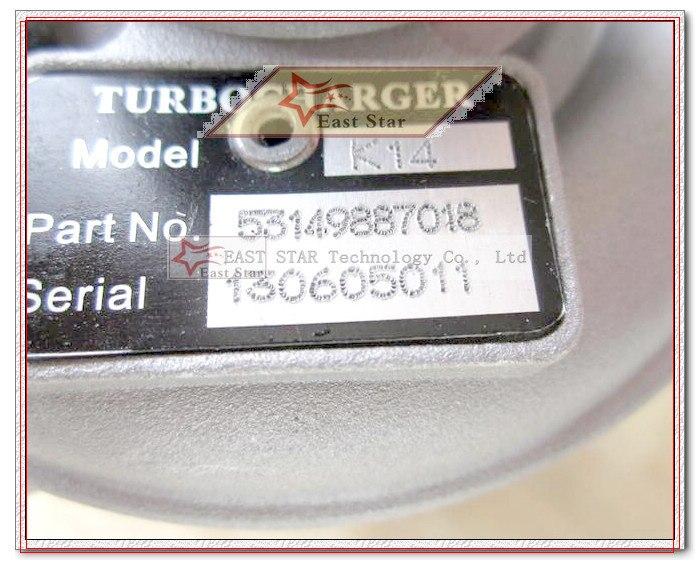 K14 53149887018 53149707018 074145701A Turbo Turbocharger For Volkswagen VW T4 Transporter 1995-03 Engine ACV AUF AYC 2.5L TDI (8)