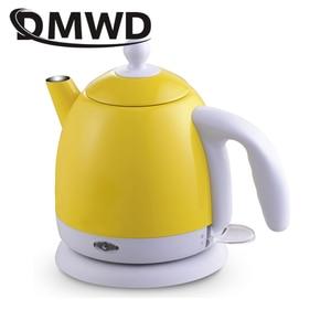 Image 2 - DMWD ฉนวนกันความร้อนไฟฟ้ากาต้มน้ำร้อนความร้อนหม้อไอน้ำหม้อสแตนเลส 1L Mini Travel กาน้ำชาอุ่นนมอุ่น EU