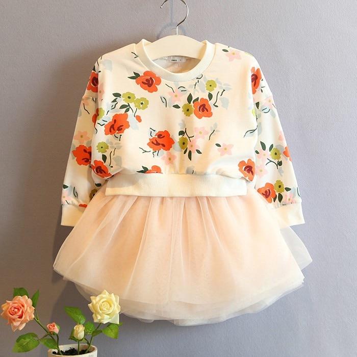 Ropa de los niños 2018 nueva primavera y otoño Bebé Niñas soplo shaqun  vestido niños princesa vestido 4970c00cf25