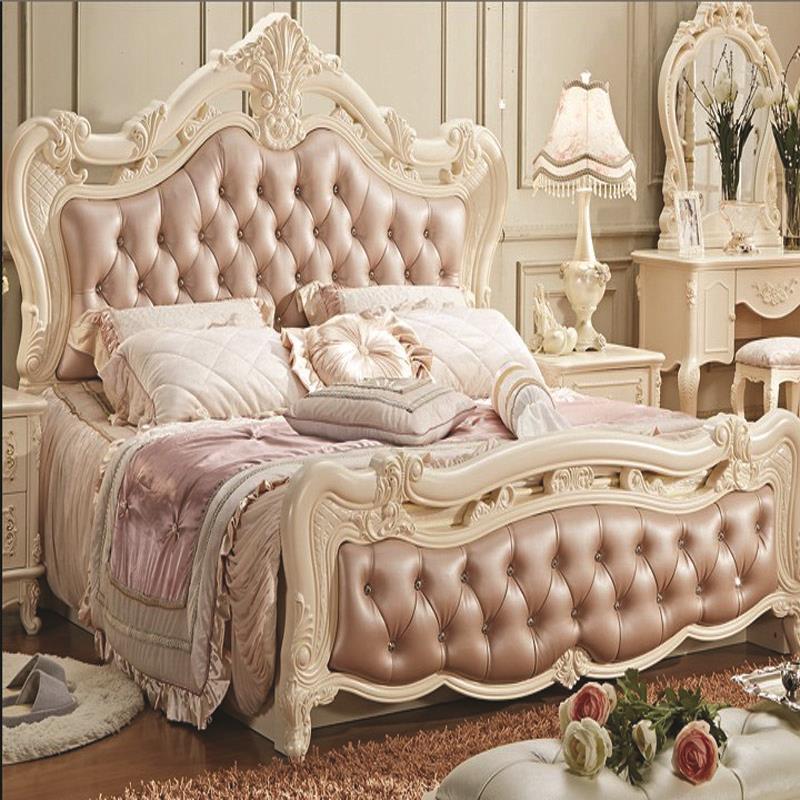 Amerikanischen Klassischen Rosa leder Bett ehe König Größe ...
