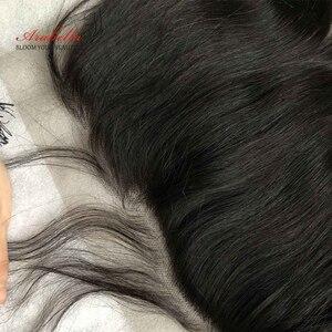 Image 5 - 13*4 ลูกไม้หน้าผากเปรูผมตรงกับผมเด็ก Arabella ธรรมชาติสี Remy ผมลูกไม้ด้านหน้า