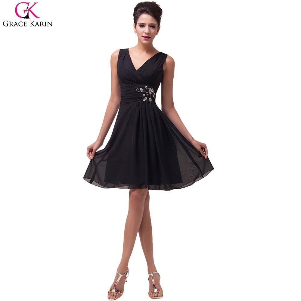 Popular Short Black Cocktail Dresses-Buy Cheap Short Black ...