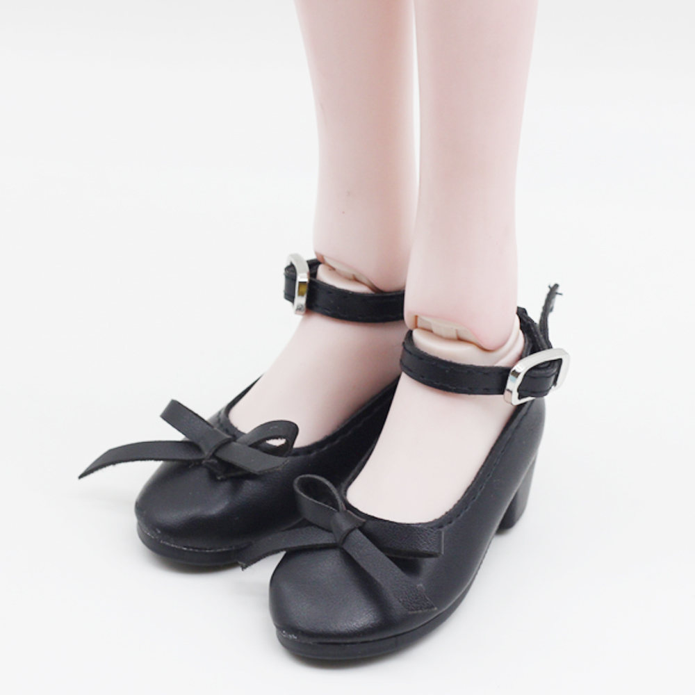 1pair Fashion PU Leather Shoes For 16inch 60cm BJD SD Dolls Mini Shoes Toy Fit 1/3 Dolls 7.8cm