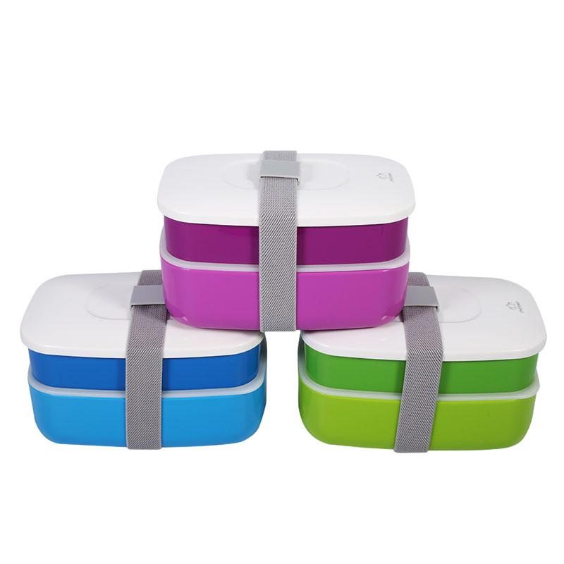 1200ml Lunch Box Double-layer Bento Dinnerware Food Container Set with Chopsticks Spoon  цены