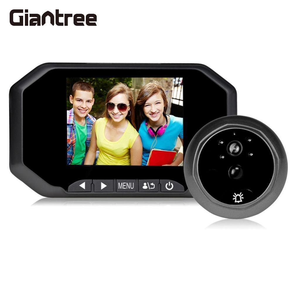 Giantree 3.5 Inch Wifi HD Video Intercom PIR motion detection Night Vision Doorbell Peephole Viewer Camera Video record kinco night vision video doorbell smart home wifi remote control hd waterproof dtmf motion detection alarm for phone