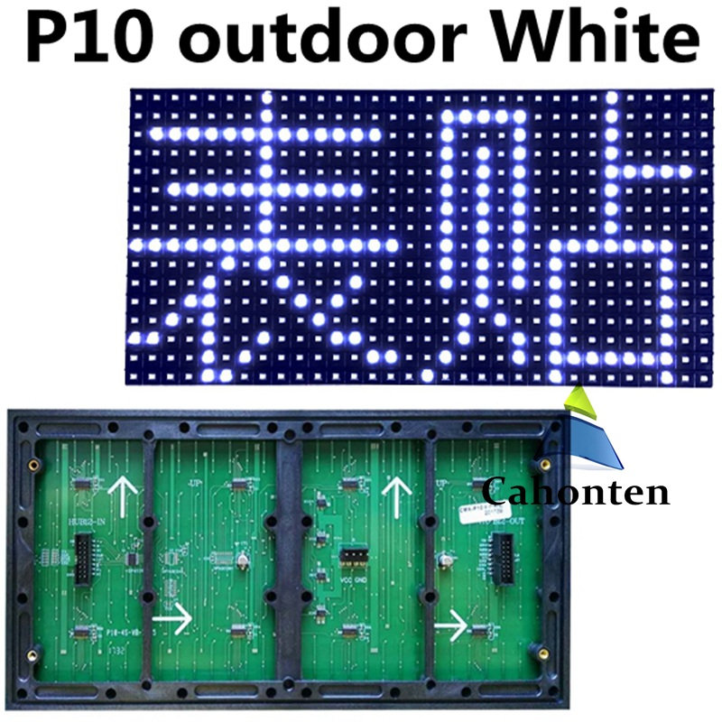 SMD P10 outdoor White color module Waterproof 320*160mm 32*16pixels high brightness For scorlling message led screen display