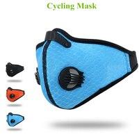 Mode PM2.5 Poussière Activé le Masque De Carbone Vélo Maille Tissu Respiratoire Respirant Filtre de Course En Plein Air Protection Visage Masque