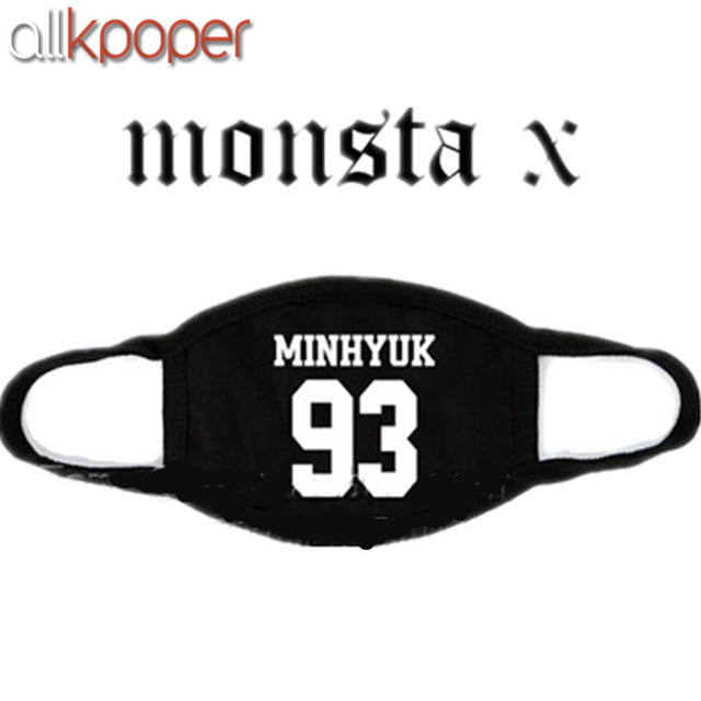 ALLKPOPER Kpop MONSTA X Mask Cotton Mouth HYUNGWO Face Muffle I.M SHOWNU WONHO MINHYUK 5