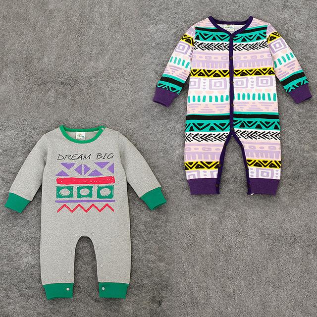 Primavera macacão de bebê recém-nascidos do bebê do algodão de pano para meninas moda vintage étnico next roupas de bebê menino romper do bebê roupa infantil