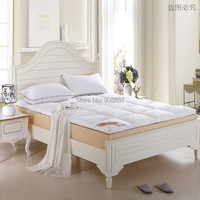 new queen size bed White Thickening folding luxury Duck Down Mattress Topper 100% cotton shell 95% duck down filling quilted