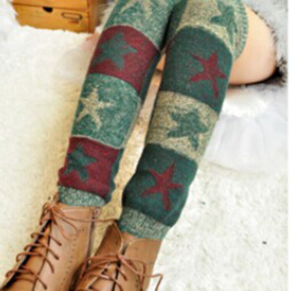 Women Leg Warmers 2018 Spring Autumn new Warm polainas Knitted Girls Solid Casual Loose Crochet Long Socks wholesale 5 Colors ...