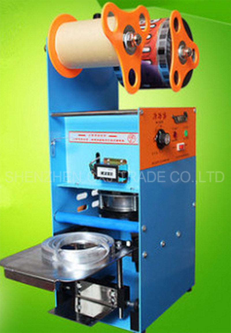 New ET-D9 220V Plastic Cup Sealing Machine ,Milk tea sealing machine,Commercial cup tea shop dedicated Soya bean juice cup edtid new high quality small commercial ice machine household ice machine tea milk shop