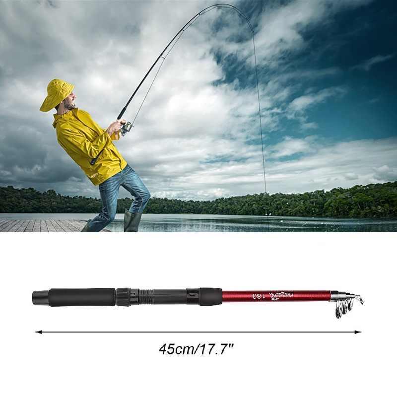 Canne à pêche rigide en Fiber de verre 1.8m canne à pêche télescopique coulée réglable canne à pêche en mer