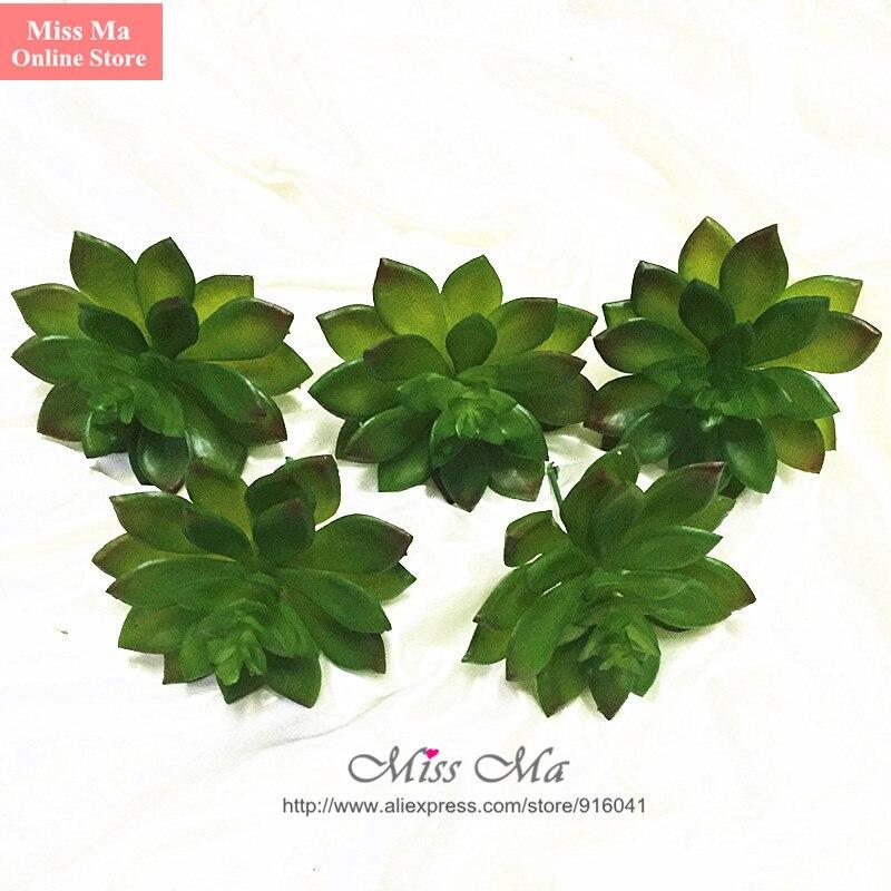 INDIGO- Wholesale300pcs Artificial Succulent Plant Echeveria Green Desert Plastic Flower Table Decoration Greenery Free Shipping