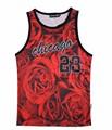 [AMY] 2015 verano hombre tank tops impresión 3D rose floral Chicago Jordan 23 chaleco slim fit camiseta sin mangas tee shirts